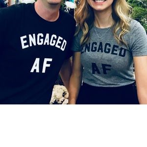 "Next Level Apparel Shirts - Men's ""engaged AF"" dark gray tee-shirt"